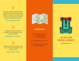 fancy brochure templates colorful travel agency brochure templates by canva