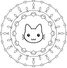 cat mandala coloring pages art pinterest mandala coloring