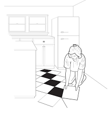 how to lay a checkerboard linoleum floor old house restoration