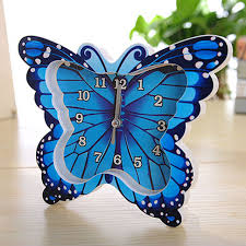 creative butterfly pattern clock desk clock creative home