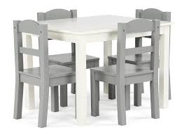 tot tutors table chair set tot tutors springfield white grey table and 4 chair set toys r us