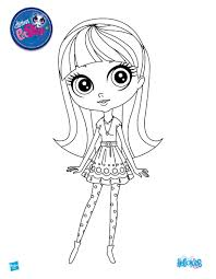 littlest pet shop coloring pages of dogs littlest pet shop coloring pages to print blythe baxter page