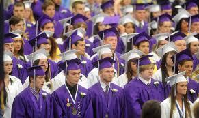 white graduation gowns waterville senior high school to gender neutral graduation