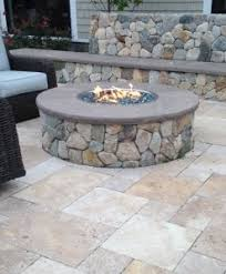 Gas Fire Pit Kit by Fire Pits Stone And Regular Kits Gas Wood Powered Stonewood
