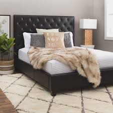 Roma Tufted Wingback Headboard Taupe Fullqueen by Gerlane King Upholstered Bed With Arched Tufted Headboard And Low
