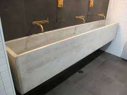 bathrooms design best long bathroom sink with two faucets