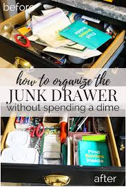 how to organize your junk drawer without spending a dime love