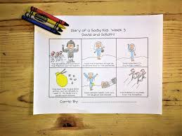 david and goliath comic strip coloring pages u2013 children u0027s ministry