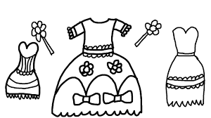 pretty dress coloring pages for kids to color for children to