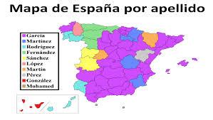 Espana Map Mapa De España Por Apellido Resources And Ideas For Language