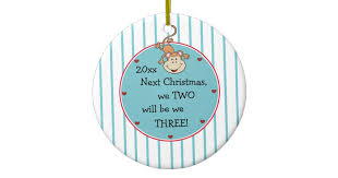 expecting our 1st baby and it u0027s a boy christmas ceramic ornament