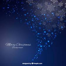 sparkling blue christmas background abstract style vector
