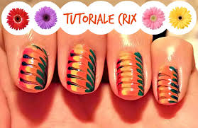 easy rainbow nail art fast nails designs tutoriale crix youtube