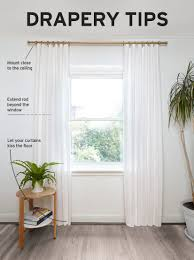 Ideas For Hanging Curtain Rod Design How To Hang Curtains Tips From Designer Andrew Pike Umbra How To
