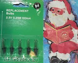 alderbrook various spare lamp bulbs b4 g4 k4 w4 for christmas tree