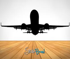 vinyl wall decal sticker airplane taking off os es101
