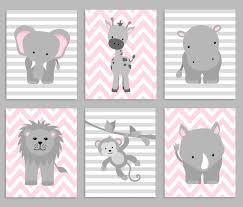 baby girl nursery wall art pink gray nursery artwork elephant zoo nursery decor baby girl nursery safari nursery jungle decor grey and pink baby wall art elephant hippo lion monkey rhino giraffe