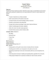 Sample Of Resume Template by 9 Librarian Resume Templates Free Sample Example Format