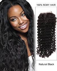 how to style brazilian hair middle part lace closure natural black deep wave virgin brazilian