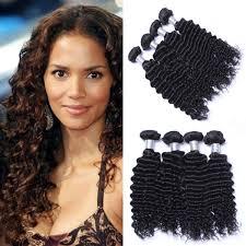 crochet weave with deep wave hairstyles for women over 50 nayoo deep wave brazilian weave bulk virgin human hair ponytail 4