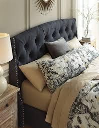 Zelen Bedroom Set King Cal King Upholstered Platform Bed From Ashley B600 558 556 594