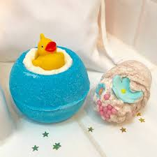 christmas rubber duck bath bomb gift set by pink pineapple home