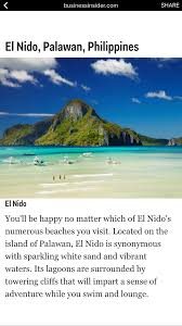 el nido palawan named one of the best beaches in the world preen