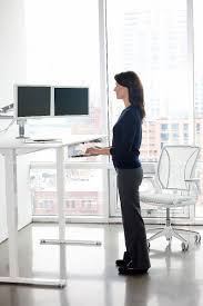 Desk Height Adjusters by Float Humanscale U0027s Height Adjustable Sit Stand Table