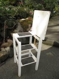 Step Stool Chair Combination Handmade Wooden Furniture Ironing Board Stepstool Ladder Combo