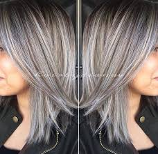 silver hair with blonde lowlights amazing grey silver highlights silver highlights gray and hair