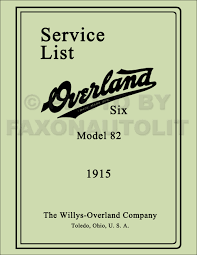 willys overland logo 1910 1919 willys knight and overland repair shop manual reprint