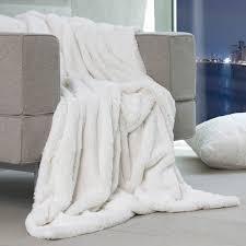 plaids fausse fourrure pour canapé couvre lit fausse fourrure plaid en synth tique imitation 3 grizzly