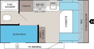 Travel Trailers With Bunk Beds Floor Plans Jay Feather Ultra Lite Travel Trailers Jayco Inc