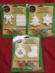 Ceramic Christmas Ornaments Paint Your Own by 6 Ceramic Holiday Theme Christmas Ornaments U Paint Diy Kids Craft