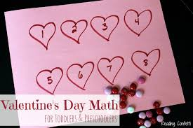 valentine u0027s day math for toddlers and preschoolers reading confetti