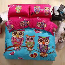 twin girls bedding set bedding new listing cartoon duvet cover comforter sets owl