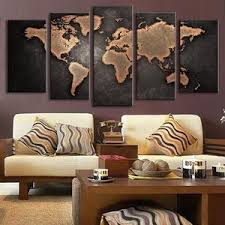 5 pieces modular pictures for home abstract wall art painting