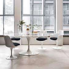 Eero Saarinen Table Saarinen Oval Dining Table Marble Cherricott Kitchen Extension