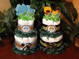 jungle theme baby shower diaper cake colorful jungle theme baby