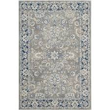 Gray Blue Area Rug Darby Home Co Harwood Power Loom Cotton Gray Blue Area Rug