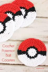 crochet pokemon ball coaster pattern pokemon fan free crochet
