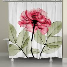 Pink Flower Shower Curtain Rose X Ray Shower Curtain U2013 Laural Home