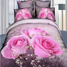 3d rose bedding pink floral duvet cover queen luxury home