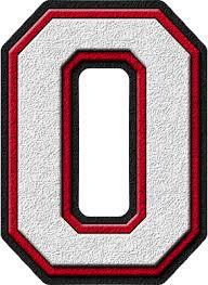 presentation alphabets white u0026 cardinal red varsity letter o