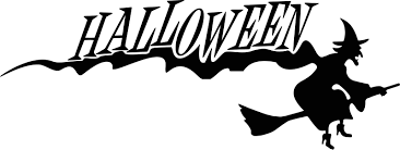 halloween witch with text free halloween vector clipart illustration