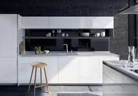 cuisine blanche et noir cuisine noir et blanche deco decoration 1 blanc bois lzzy co