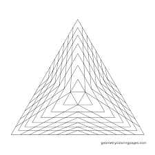 geometry coloring page pyramid from geometrycoloringpages com