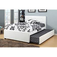 What Is A Trundle Bed Amazon Com Poundex Full Bed With Trundle Home U0026 Kitchen