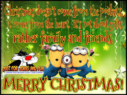 merry minion quote for family and friends