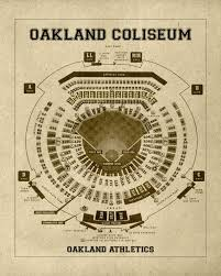 what size paper are blueprints printed on vintage print of oakland coliseum seating chart oakland athletics